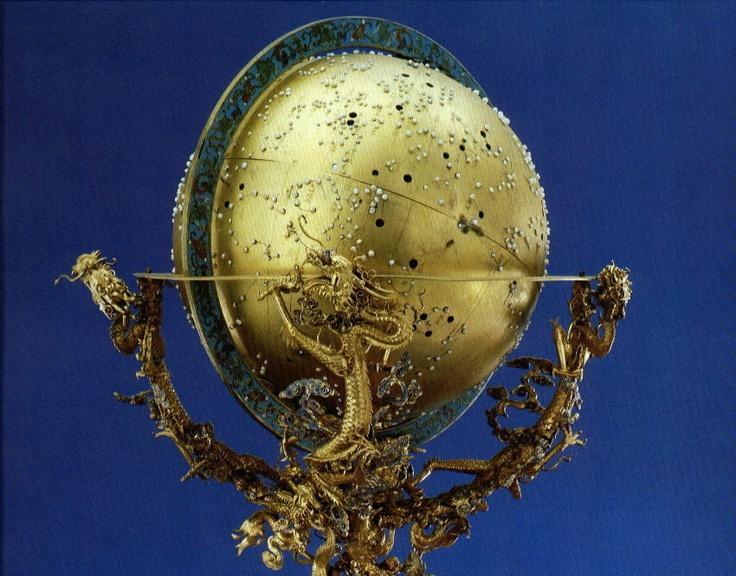 Qian Long Gold Celestial Globe